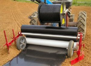 Plastic mulch layer for BCS walking tractor