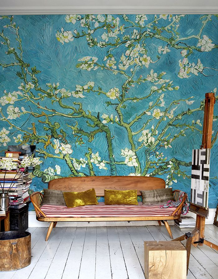 17 best images about art wallpaper on pinterest light for Mural van gogh