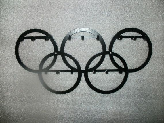Large Wall Olympic Hook Organizer for Medals Gymnastics Track & Field Swimming, Etc.