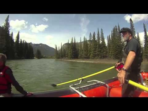 A look at the serene and beautiful float trip down the Bow River in Banff-with Rocky Mountain Raft Tours.