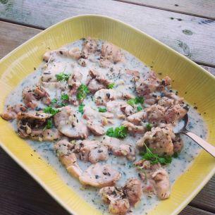 Kycklinglårfile i vitvinssås med örter och citron - Recept från Mitt kök - Mitt Kök | Recept | Mat | Vin | Öl