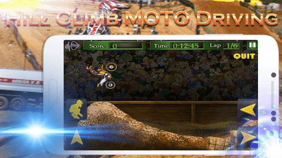 Ride your extreme motocross nitro bike and get ready for dangerous hill moto racing