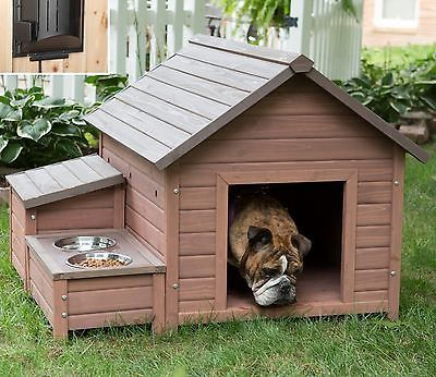 Heated Dog House Food Bowl Tray Large Kennel Outdoor Storage Cubby Heater Pets | Productos para mascotas, Perros, Casas para perros | eBay!