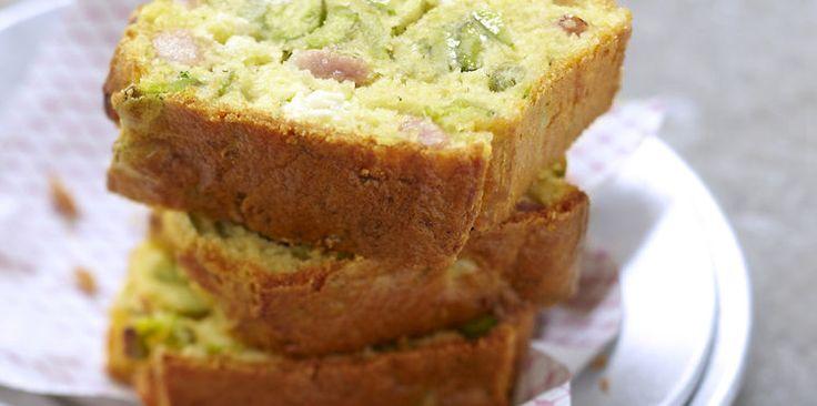Cake à la Courgette Lardons et Fromage de Chèvre