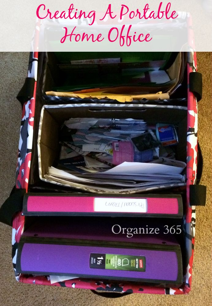 Creating a portable home office will save your sanity during a move!