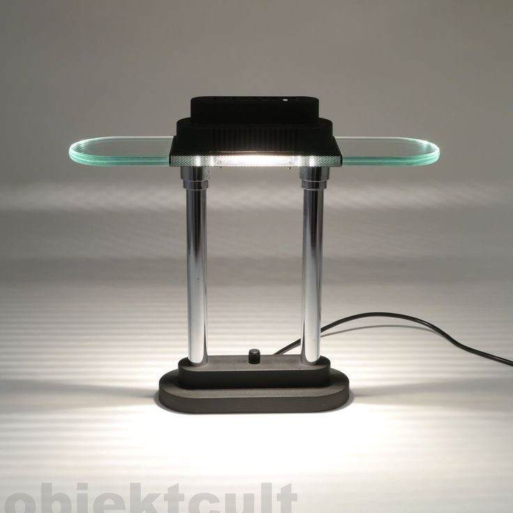 EXTRA LIGHT Halogen Tischlampe im Ettore Sottsass-Pausania-Memphis-80er-Stil