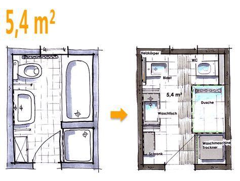 Badplanung Beispiel 5,4 Qm Neue Wünsche Für Das Neue Bad
