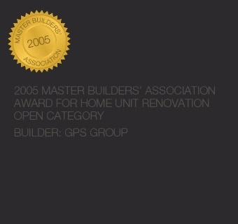 Home unit renovation award - 2005 Master Builders' Association Award for home unit renovation open category