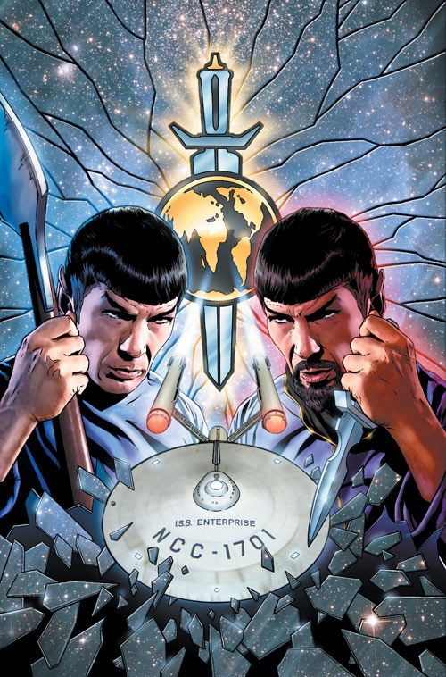 Paint me up: Star Trek limited edition artwork shows Kirk, Spock and the…