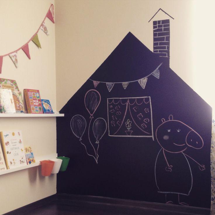 Меловая доска в детской комнате