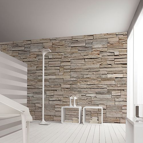 Brick effect wallpaper NATURSTEIN AP Digital Textures Collection by Architects Paper®, a brand of A.S. Création Tapeten