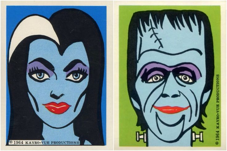 zgmfd1964 Munsters stickers (KayroVue Productions)