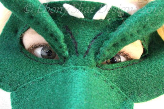 Felt crocodile mask or alligator mask pattern. by EbonyShae