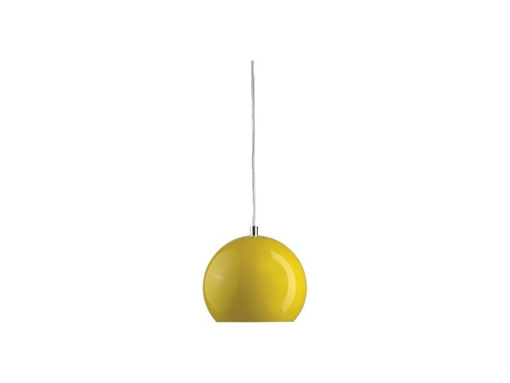 Lampa Wisząca Ball III żółta — Lampy wiszące Frandsen Lighting — sfmeble.pl #yellow #design #lamp