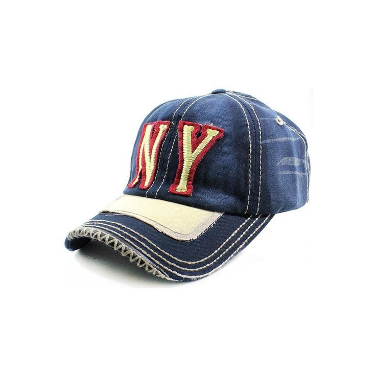 NY Distressed Baseball Cap