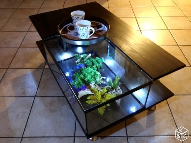 Table basse aquarium 60 cm