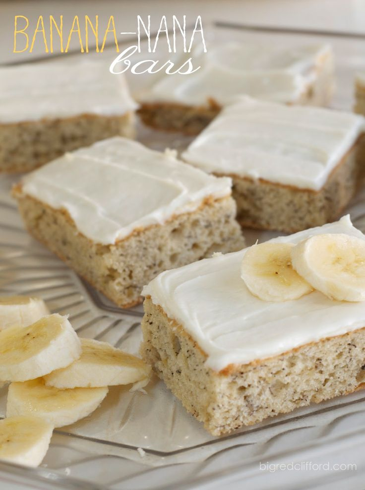 big red clifford: banana-nana cake bars