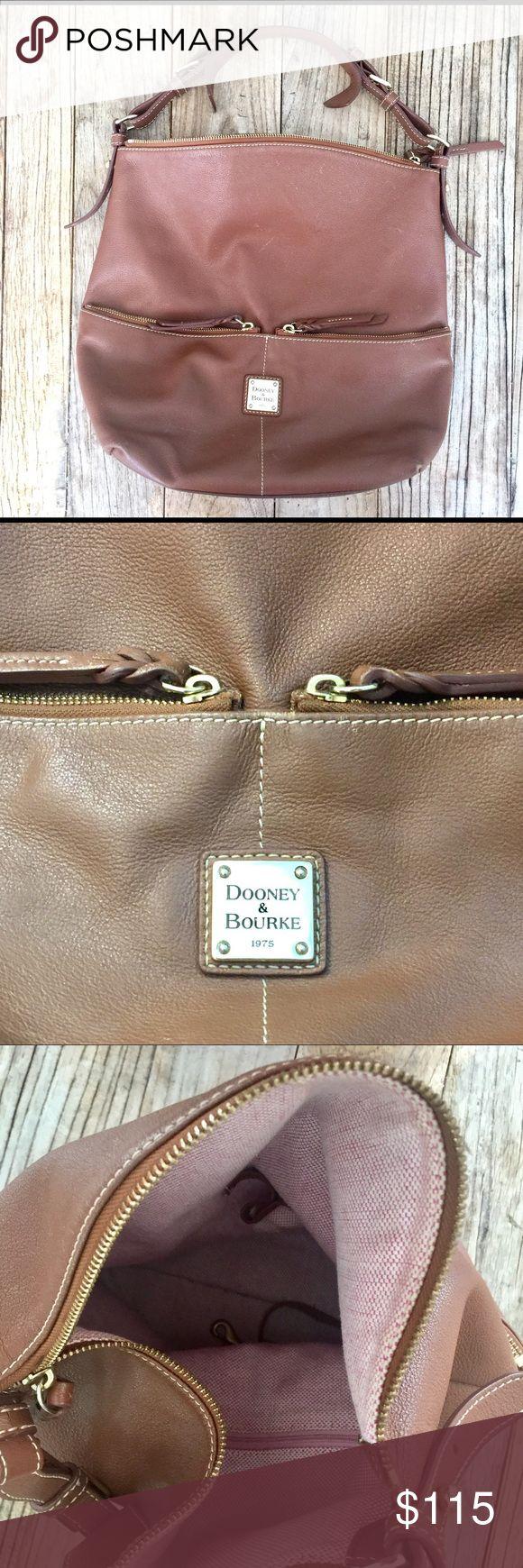 Dooney & Bourke leather hobo / shoulder bag. EUC Dooney & Bourke leather  hobo / bucket shoulder shoulder bag. Great color, beautiful leather. Perfect everyday bag. Dooney & Bourke Bags Shoulder Bags