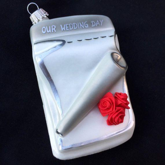 SALE Wedding Car Ornament Lauscha Glas by TreasureofMemories