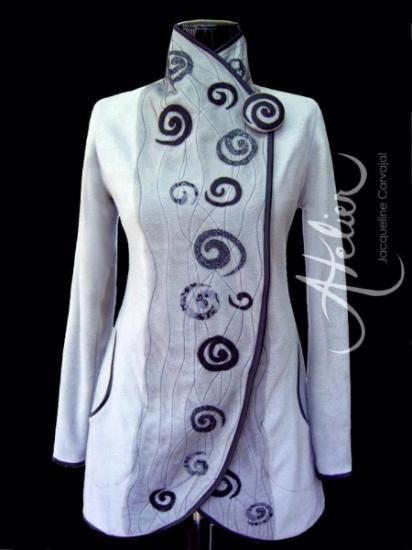 chaqueta polar  shanghai  polar hecha a mano                                                                                                                                                                                 Más