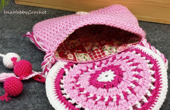 Borsa Little Little Girl uncinetto borsa di IaiaHobbyCrochet