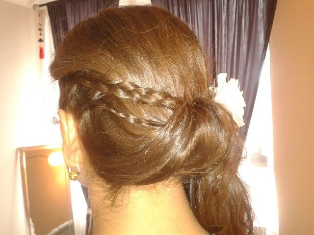 Bridal updo made by my hands