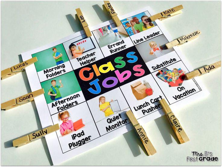 Free Classroom Job Chart. Mrs B's First Grade Blog
