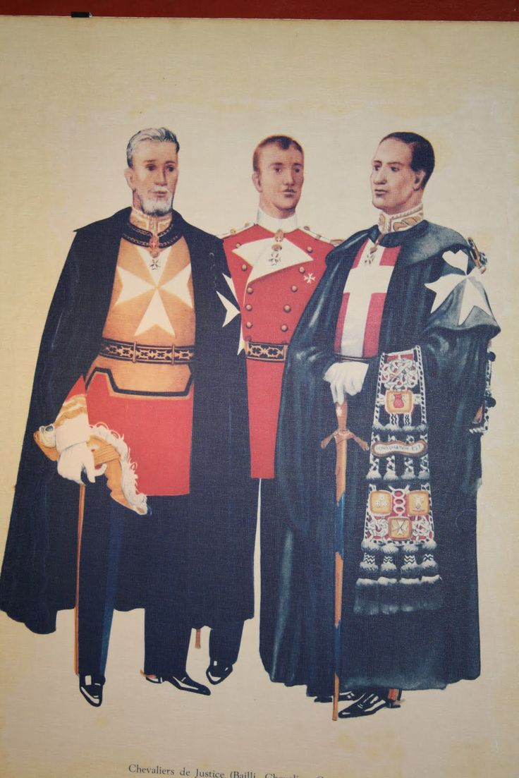 A bit outdated uniforms of the Knights of Malta.