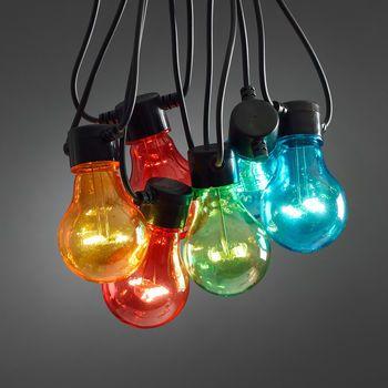 multi coloured circus festoon lights by lights4fun