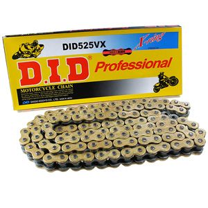 D.I.D. 525VX Gold Chain - 120 Link: Triumph Motorcycle Parts | Motorcycle Gear | British Customs OOH GOLD