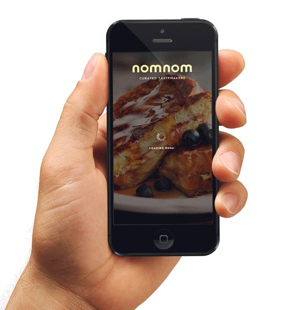 NomNom by Marc-Antoine Roy, via Behance