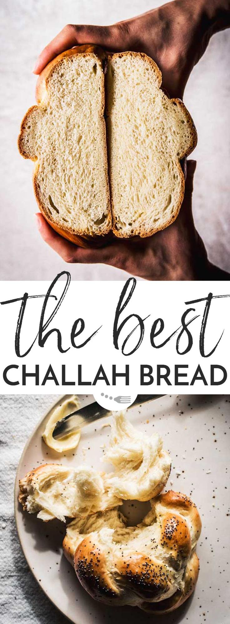 The BEST homemade challah bread! It takes time, but it's so worth it. The ingredient list is pretty short and simple, and once you get the hang of the technique it's easy to put together. This is not a traditional Jewish recipe, but an authentic Swiss Zopf. The slightly sweet bread is perfect for breakfast and brunch, you can shape it into one big braided loaf or into small rolls. | #recipe #bread #baking #breadrecipe #brunch #easter