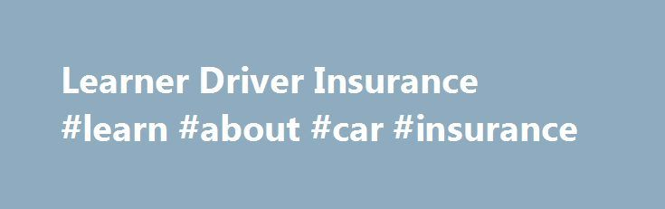 Learner Driver Insurance #learn #about #car #insurance http://georgia.remmont.com/learner-driver-insurance-learn-about-car-insurance/  # Learner Driver Car Insurance Learner drivers: a guide to your car insurance options Car insurance premiums for young people tend to be sky high. The simple reason for this is that they are more likely to be involved in an accident and make a claim on their policy. So if you haven't yet passed your driving test, it's important to budget for the cost of…