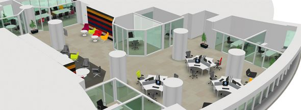 Creative office layouts google search office space for Outer space office design