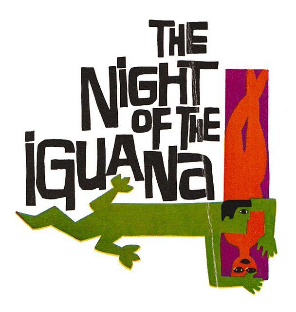 The Night of the Iguana logo by Saul Bass