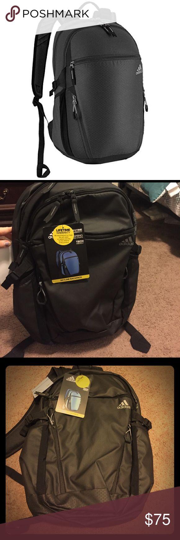 Adidas Waterproof backpack All black packpack with waterproof coating. NWT Adidas Bags Backpacks