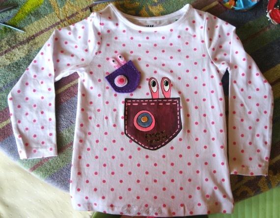 Pocket Monster T-shirt  + felt brooch / Camiseta Pocket Monster + Broche Fieltro 15€