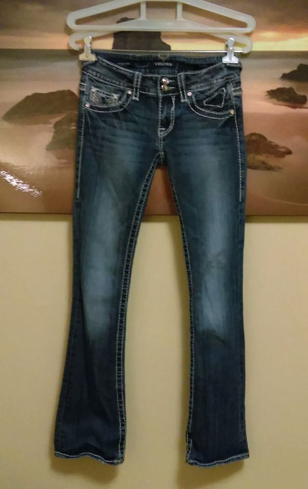 25b8e46d71e Women's Vigoss New York Bootcut crystal embellished jeans. #fashion # clothing #shoes #