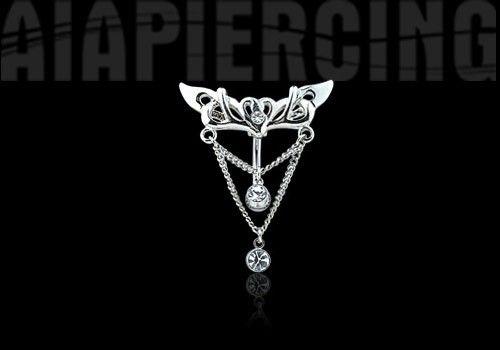 PIERCING NOMBRIL INVERSÉ PENDENTIF PIERRES BLANCHES http://www.aiapiercing.com/piercing-nombril/fantaisie/piercing-nombril-inverse-pendentif-pierres-blanches Bijou de piercing nombril inversé avec cristaux blancs #piercinginverse #piercingnombril