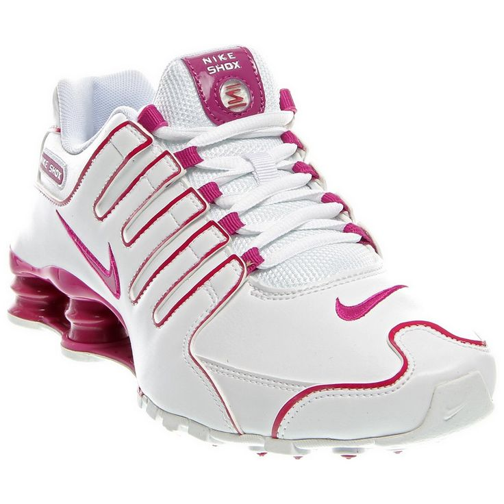 114.99 The womens Shox NZ Womens athletic inspired shoes from Nike feature  a leather upper for