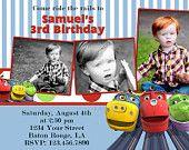 Chuggington Birthday Invitation / Chuggington Train Birthday Invitation / Train Invitation / Wilson Invitation Digital File 5x7