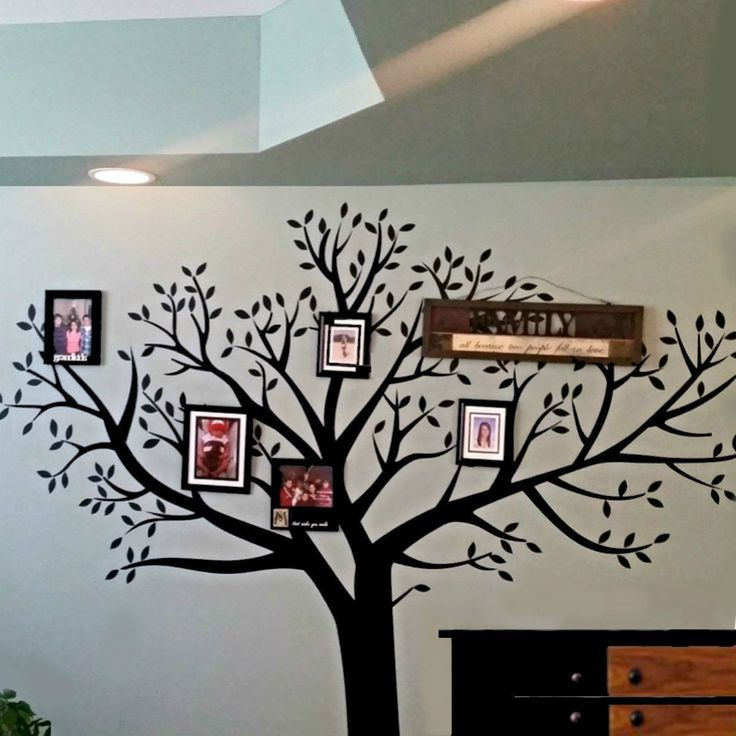Family Photo Wall Decal Tree 8' Foot x 9' Foot LARGE Removable Home Decor Tree $18.0