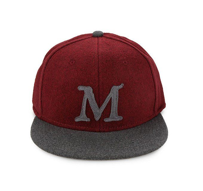 James Canvas Synthetic Leather Hat by Macbeth. Maroon hat that made from polyester, this maroon hat has a M patch in front, snap back closure, adjustable back, perfect for hang out or for everyday use.   http://www.zocko.com/z/JI1IM