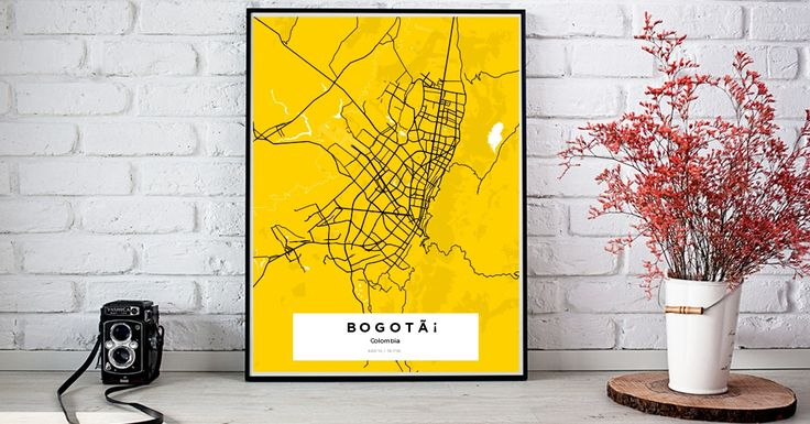 Bogotá | Custom Map Maker – Make Your Own Map Poster Online - YourOwnMaps