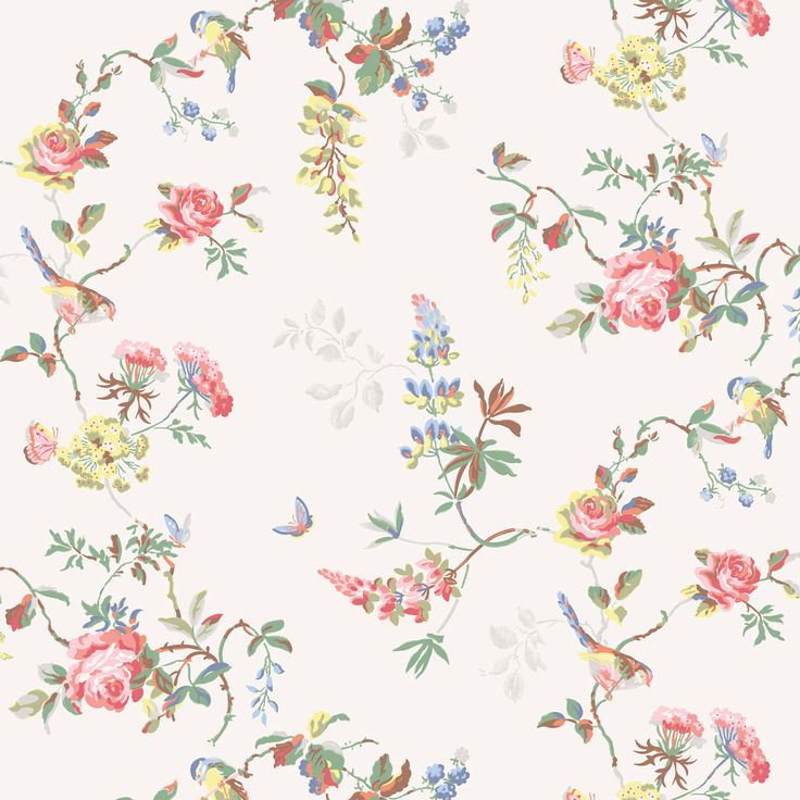For when I finally get around to reupholstering my chair! Home Furnishing | Birds & Roses Furnishing Fabric | CathKidston