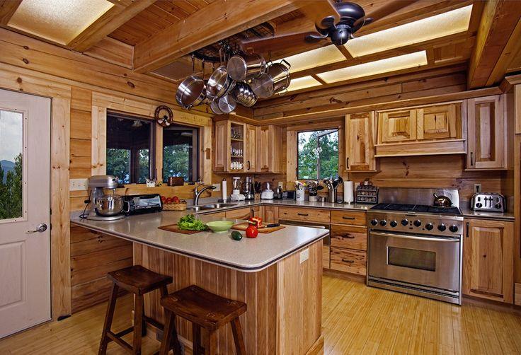 Small Log Home Kitchens: Log Home Kitchen Design Ideas