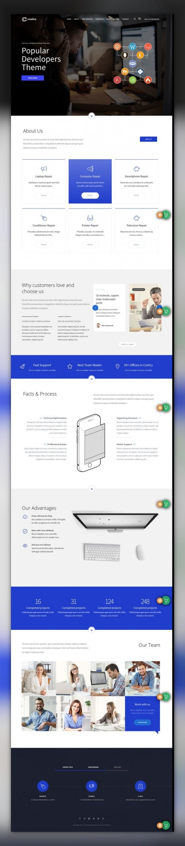 Creatica - Multipurpose WordPress Theme CMS & Blog Templates, WordPress Themes, Design & Photography, Photography Templates, Photographer Portfolio Templates Descriptions:Creatica – the multipurpose WordPress template. You can use it for advertizing agencies, analysts, marketing, portfolio and many other things. The templat...