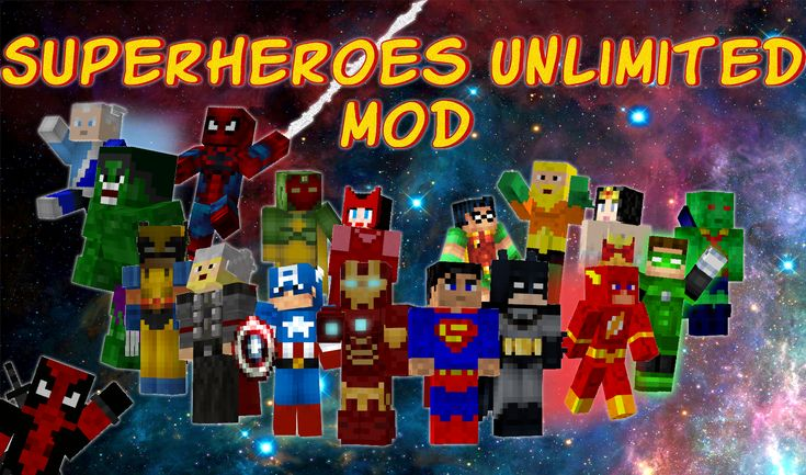 What isSuperheroes Unlimited Mod? Who doesn t love heroes from movies and cartoons? With theSuperheroes Unlimited Mod, you can be used in Minecraft to get superheroes such as Flash, Superman, Captain America and many other superheroes!By using one of these costumes we become that character and get in-game abilities or powers. The list of superheroes: Flash The post Superheroes Unlimited Mod 1.9/1.8/1.7.10/1.6.4 appeared first on aMinecraft.