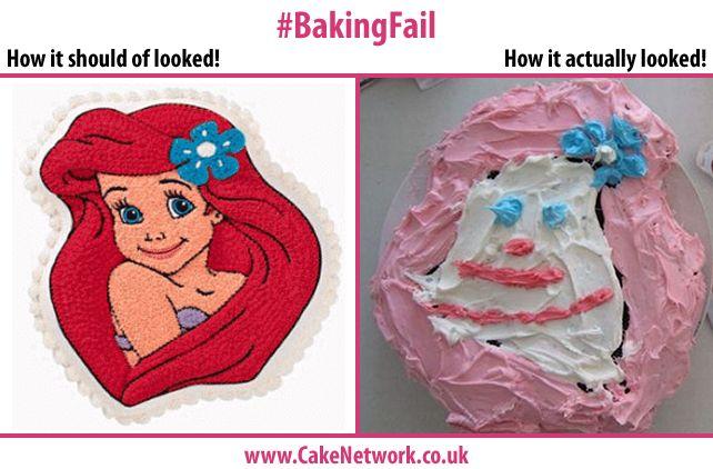 Little Mermaid Cake - Fail