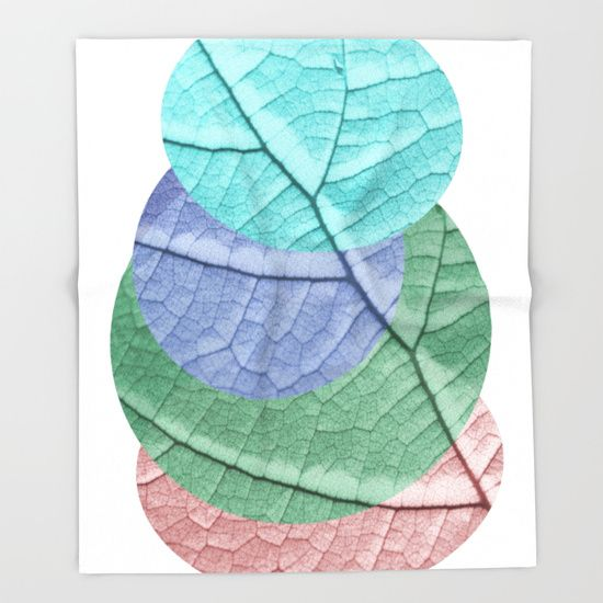 Pastel Leaf Collage Throw Blanket by ARTbyJWP #blankets #throwblanket #bedroom #homedecor #colors ----  Our seriously soft throw blankets are available in three sizes and feature vividly colored artwork on one side. Made of 100% polyester and sherpa fleece, these might be the softest blankets on the planet, so get ready to cozy up. They can be machine washed separately with cold water on gentle cycle. Tumble dry on low heat setting. Do not iron or dry clean.